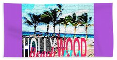 Hollywood Beach Fla Poster Beach Sheet