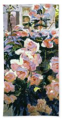 Hollywood Cottage Garden Roses Beach Towel