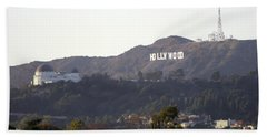 Hollywood Hills And Griffith Observatory Beach Towel