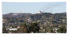 Hollywood Hills From Sunset Blvd Beach Sheet