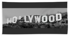 Hollywood Sign Beach Towel