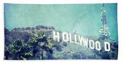 Hollywood Sign Beach Sheet by Nina Prommer