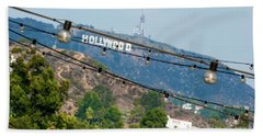 Beach Sheet featuring the photograph Hollywood Sign On The Hill 1 by Micah May