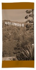 Hollywood Signage Beach Towel
