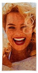 Hollywood Star Margot Robbie Beach Towel by Best Actors