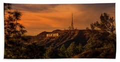 Hollywood Sunset Beach Towel