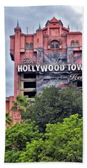 Hollywood Tower Hotel Walt Disney World Mp Beach Towel