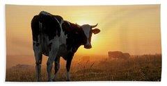 Holstein Friesian Cow Beach Towel