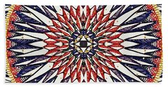 Beach Towel featuring the painting Holy Dog Star by Kym Nicolas
