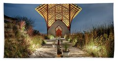 Beach Towel featuring the photograph Holy Family Shrine by Susan Rissi Tregoning