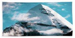 Holy Kailas Himalayas Mountain Tibet Yantra.lv Beach Towel