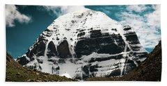 Holy Kailas North Slop Himalayas Tibet Yantra.lv Beach Towel