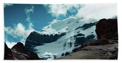 Holy Kailas West Himalayas Tibet Yantra.lv Beach Towel