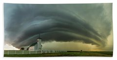 Beach Towel featuring the photograph Holy Supercell  by Aaron J Groen