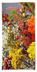 Beach Towel featuring the photograph Holy Week Flowers 2017 2 by Sarah Loft
