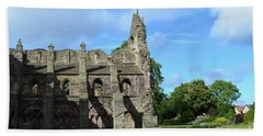 Holyrood Abbey Ruins In Edinburgh Scotland Beach Towel