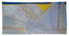 Beach Towel featuring the painting Homage To Richard Diebenkorn's Ocean Park Series  by Cliff Spohn