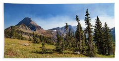 Beach Towel featuring the photograph Homage To The Mountains  by Lon Dittrick