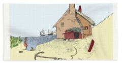 Home By The Sea Beach Sheet