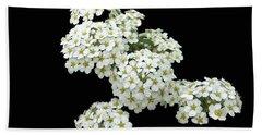Home Grown White Flowers  Beach Sheet