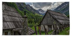 Beach Sheet featuring the photograph Home In The Slovenian Alps #2 by Stuart Litoff