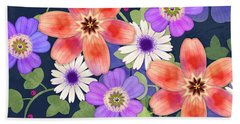 Home Is Where You Bloom Beach Towel
