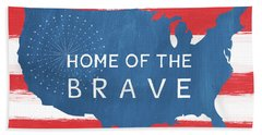 Home Of The Brave Beach Towel