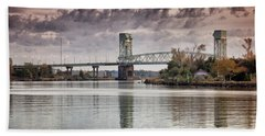 Beach Towel featuring the photograph Cape Fear Crossing by Phil Mancuso