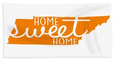 Beach Towel featuring the digital art Home Sweet Home Tennessee by Heather Applegate