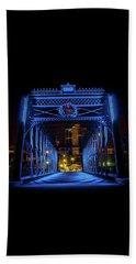 Homeless Winter Night On Wells Street Bridge - Fort Wayne Indiana Beach Towel