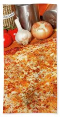 Beach Sheet featuring the photograph Homemade Pizza by KG Thienemann