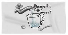 Homeopathic Coffee Beach Towel