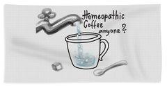 Homeopathic Coffee Beach Towel by Ivana Westin