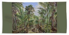 Homestead Tree Farm Beach Sheet by AnnaJo Vahle