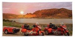 Honda Goldwing Bike Trike And Trailer Beach Towel