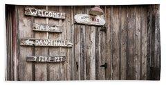Hondo's Bar At Luckenbach Texas Beach Sheet