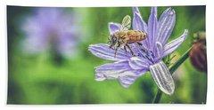 Honey Bee And Flower Beach Sheet
