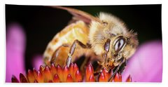 Honey Bee At Work Beach Towel