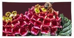 Honey Bee On Flower Beach Sheet