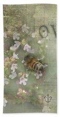 Honey Love Beach Towel by Victoria Harrington