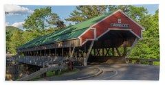 Honeymoon Covered Bridge In Jackson New Hampshire Beach Sheet