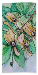 Honeysuckle Skulls Beach Towel