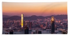 Hong Kong At Sunrise Stories From The Road Series 002 Beach Towel