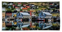 Honningsvag, Norway Beach Sheet by Shirley Mangini