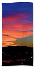 Honolulu Sunset Beach Towel by Lehua Pekelo-Stearns