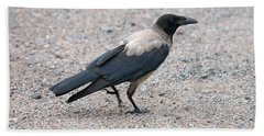 Beach Towel featuring the photograph Hooded Crow by Jouko Lehto
