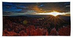 Hoodoos At Sunrise Bryce Canyon National Park Beach Towel