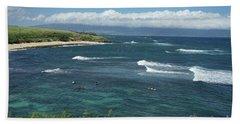 Ho'okipa Beach View From Ho'okipa Beach Park Hana Maui Beach Sheet