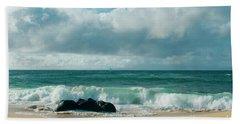 Beach Towel featuring the photograph Hookipa Beach Pacific Ocean Waves Maui Hawaii by Sharon Mau