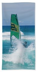 Hookipa Windsurfing North Shore Maui Hawaii Beach Towel by Sharon Mau